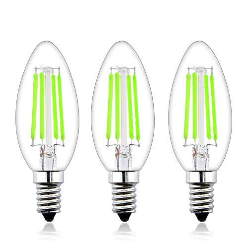 Bonlux 4W E14 LED Kerzenbirne 4W Grün Glühfaden Filament Kleine Edison Screw Retrofit Glühbirne Ersatz für 40W Halogenbirne (3-Stück) -