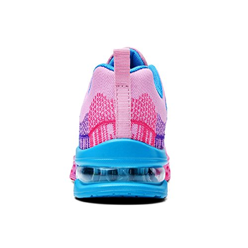 Uomo Donna Scarpe Running Outdoor Sneakers Palestra Tennis Scarpe da Corsa Rosa