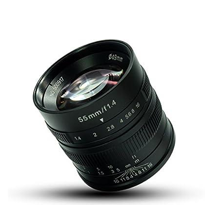 7artesanos 55mm F1.4gran apertura Micro cámara de enfoque manual retrato lente para para Sony nex-6r NEX-7A3000A5000A5100A6000A6300A6500y gamuza de tuyung