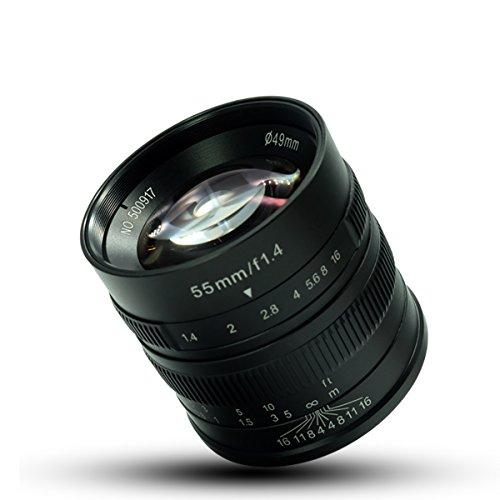 7artisans 55mm F1.4 APS-C Manuelle Objektiv für Fuji X Mount: X-A1, x-a2, x-at, X-M1, XM2, X-T1, x-t2, x-t10, X-Pro1, X-E1, X-E2 4x4-mount