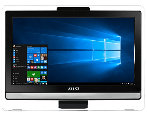 MSI - MSI Pro 20ET 4BW-042EU - Ordenador de sobremesa Todo en uno de 19.5' HD (Intel Braswell N3160, RAM de 4 GB, HDD de 1 TB, Intel HD Graphics, Windows 10 Home), Negro