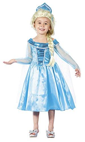 hen Elsa Prinzessinnen Kostüm, Karneval, Fasching, Türkis, 98-104, 3-4 Jahre (Elsa Kleid Kleinkind)