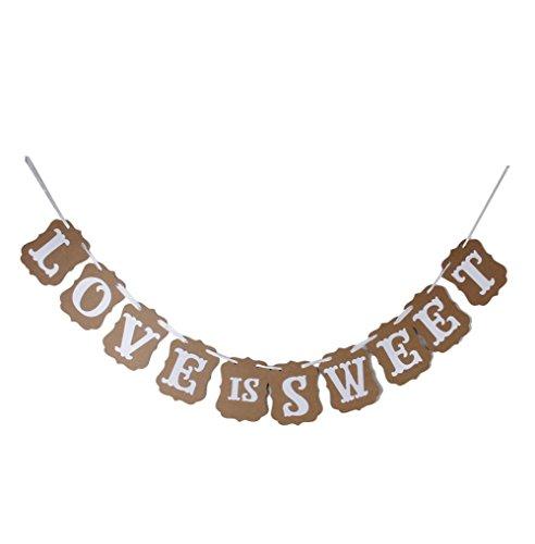 daorier Hochzeit Western Banner Party Dekoration Wimpelkette Girlande Banner (Love is sweet)