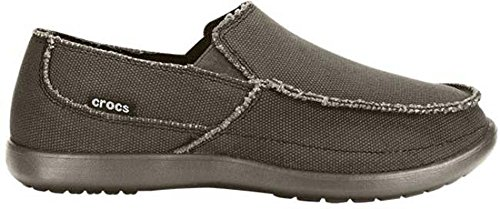 Crocs Mens Avast Slip Ons ~ Chocolate/Chocolate Canvas ~ Relaxed Fit (10)