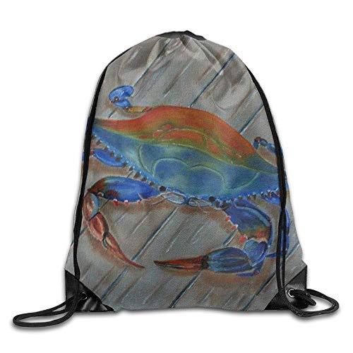 ZHIZIQIU Crab Paintings2 Unisex Outdoor Rucksack Shoulder Bag Sport Drawstring Backpack Bag -