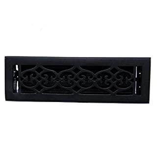 Adonai Hardware Flower Wall And Floor Register with Louver (cast iron, 2.25