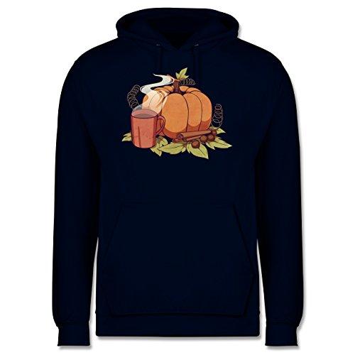 Statement Shirts - Pumpkin Spice - Männer Premium Kapuzenpullover / Hoodie Dunkelblau