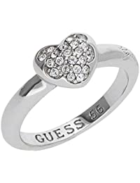 Guess Damen Ring Edelstahl silber Kristall UBR72501