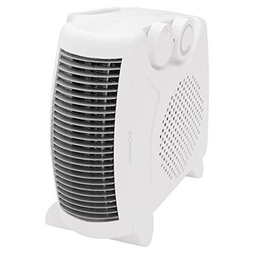 Bomann Heizlüfter HL 1095 CB, 2 Heizstufen (1000/max. 2000 Watt), Kaltstufe (Ventilator), 2 unterschiedliche Aufstellmöglichkeiten, weiß