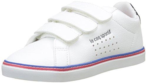 Le Coq Sportif Courtace PS Sport Optical White/Dress BL, Baskets Mixte Enfant