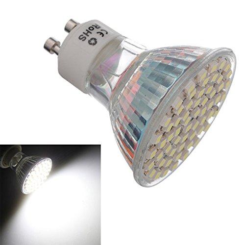 Sonline GU10 4.5W Pure White 60 SMD 3528 LED Spot Light 220V d'ampoule de la lampe