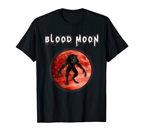 Werwolf Vollmond Kostüm - Werwolf Happy Howloween Vollmond US Flagge Halloween Kostüm T-Shirt
