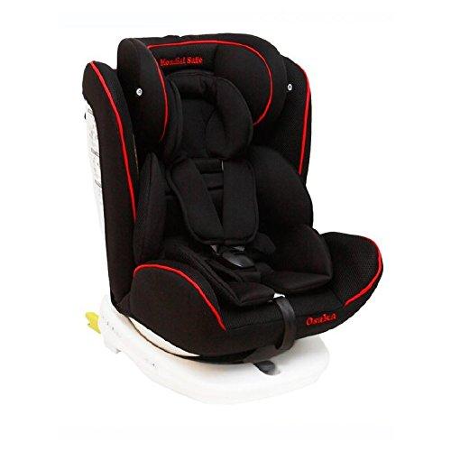 Mondial Safe Osaka 1 916- Silla de bebé para automóvil, color negro con ribete rojo