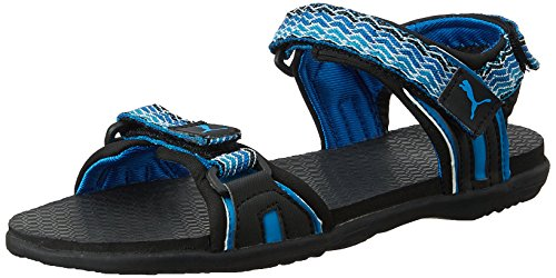8ea19dec5830 Puma 18884303 Unisex Nova Zig Dp Black Princess Blue And Cloisonn Rubber Sandals  And Floaters 5 Uk- Price in India