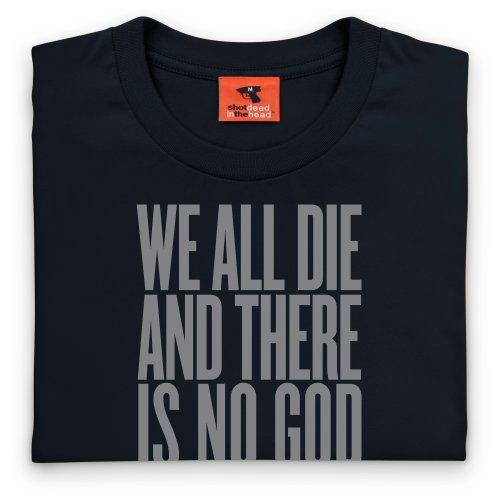 There Is No God T-Shirt, Herren Schwarz