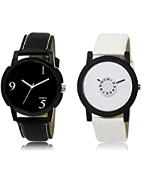 The Shopoholic Black White Combo Fashionable Funky Look Black And White Dial Analog Watch For Boys Boys Stylish...