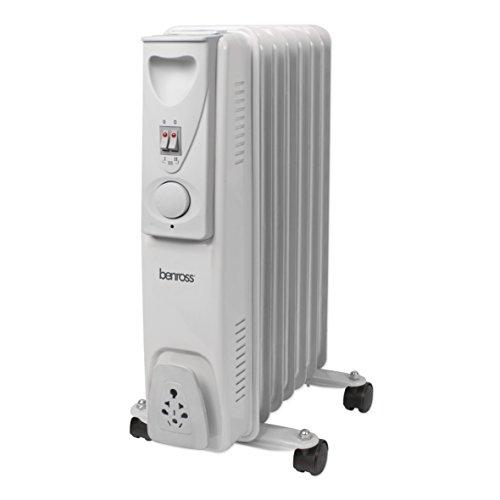 41c0XewfJHL. SS500  - BENROSS 42690 7-Fin Mini Oil Filled Radiator, 1500 Watt, Steel, W