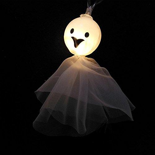 Ghost Puppe String Lights LED Dekor Beleuchtung Halloween Dekoration Qualität PVC Material Evironmental Lace Kleid Batterie Versorgung 10pcs (Kleines Mädchen Ghost Kostüme)