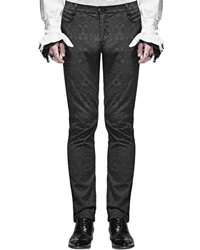 (Devil Fashion Herrenhosen Hose schwarz Brokat Gothic Steampunk VTG Aristocrat - Schwarz, Schwarz, XXX-Large)