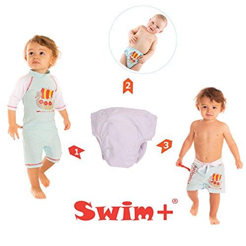 Rosa–Nachfüllpack Schicht Aussparung Swim + für Slips, Shorts und Bus (außer Schmetterling) weiß weiß 14-17 KG (24-36M)