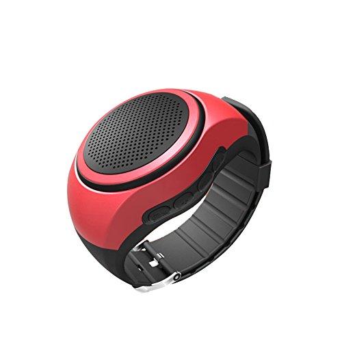 NS orologio da polso modellano il mini altoparlante Bluetooth portatile indossabile / mani libere di chiamata / carta di TF di sostegno NS-B20S (rosso)