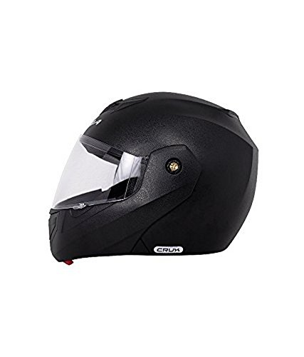 Vega Crux CRX-B-M Flip-up Helmet (Black, M)