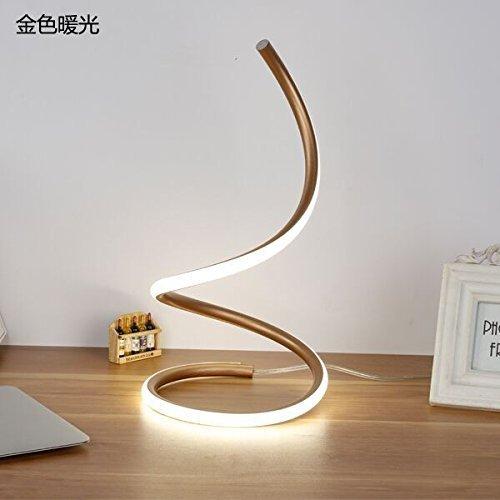 Couture Bleistift (YUHUS Home Tischlampe-Modern d minimalistische Nachttischlampe Schlafzimmer Ehe Zimmer künstlerischen Bleistifte kreative Mode Hause Wohnzimmer Lampe, goldenes Licht, warme Taste)