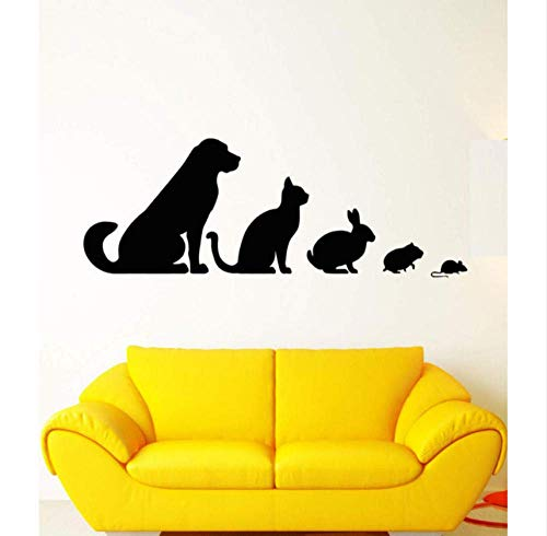 Wandaufkleber Vinyl Wand Applique Tierklinik Tier Haustier Hund Katze Kaninchen Hamster Aufkleber, Pet House Zoo Dekoration Wandaufkleber 116X42Cmgröße Kann Angepasst Werden