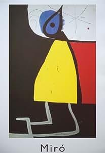 Femme dans la nuit de Joan Miro - vintage imprimer - 35cms x 50cms