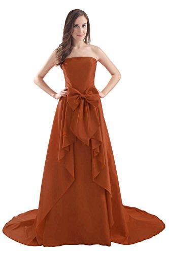 Bridal_Mall - Robe - Sans Manche - Femme Marron