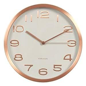 karlsson maxie horloge murale m tal cuivre cuisine maison. Black Bedroom Furniture Sets. Home Design Ideas