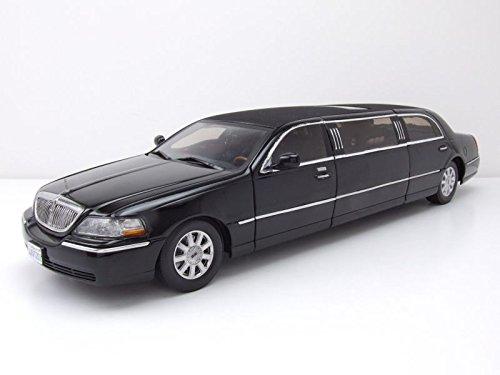 ousine 2003 schwarz, Modellauto 1:18 / Sun Star (2003 Lincoln Town Car)