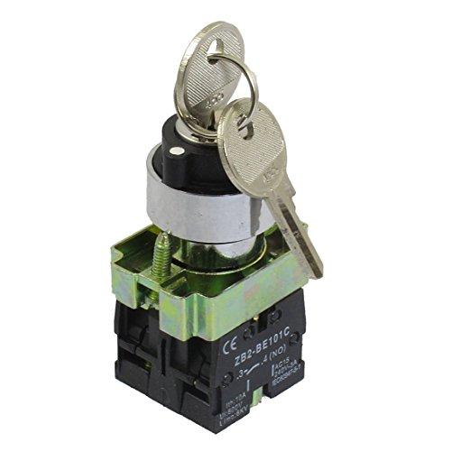 TOOGOO (R) 22mm Sperren 2 NO Drei 3-Positionstastensperre Selector Wahlschalter ZB2-BE101C Component A/v-selector