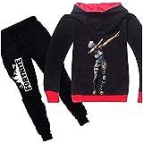 Fortnite Casual Children's Cotton Coat Sweater Hoodie+Pant Set Schoolwear Outwear