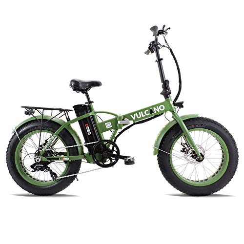 dme bike Fat-Bike Bicicletta Elettrica Pieghevole a Pedalata Assistita 20 500W V2.4 Vulcano Verde