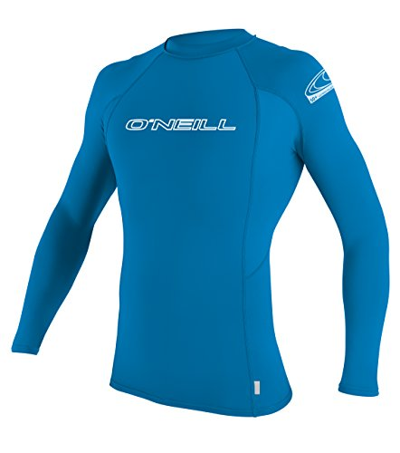 O'Neill Wetsuits Kinder Shirt BASIC SKINS L/S CREW, Brite Blue, 10, 3346-188 (L/s Rash Crew Guard)