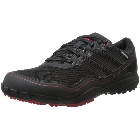 adidas Men's Puremotion Golf Shoe,Black/Black/Red,10 M