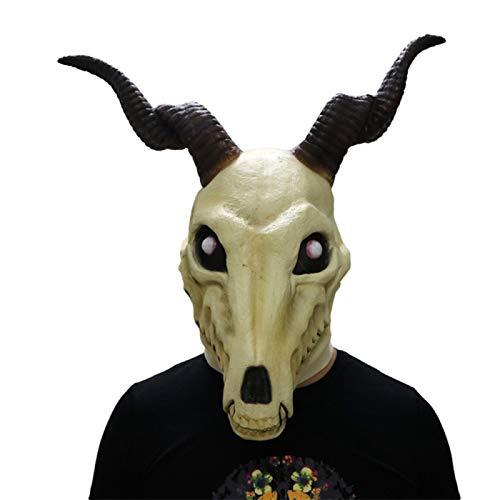 SonMo Cosplay Maske Ziege Kopf Maske Kostüm Zubehör für Karneval Halloween Cosplay