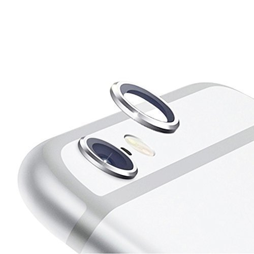 iPhone 6 (Ron) Camera Lens Protective Case Cover Ring For Apple Iphone 6 (Silver)  available at amazon for Rs.110