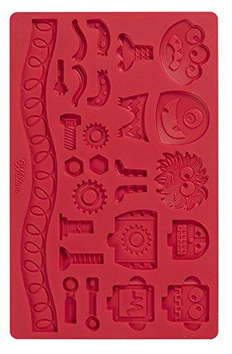 und Blütenpastenform mit Roboter- und Monster-Design (Cookie Monster Dekorationen)