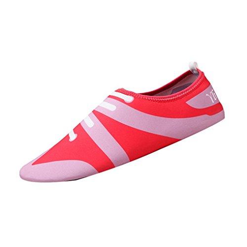 FNKDOR Unisex Fitnessschuhe Aquaschuhe Breathable Schlüpfen Schwimmschuhe Yoga Schuhe für Damen...