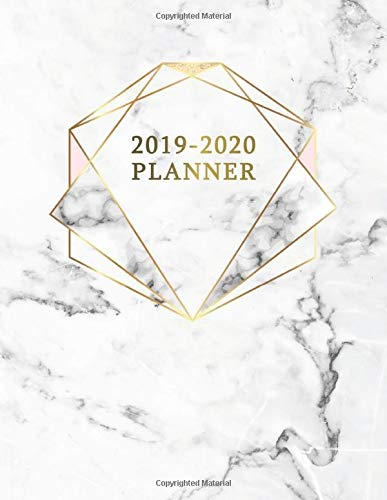 Zoom IMG-2 2019 2020 planner pretty marble