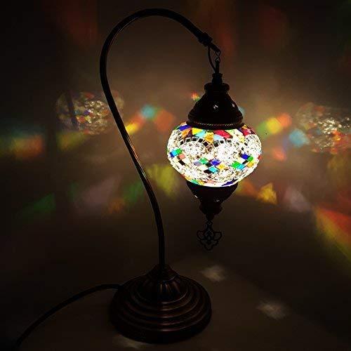 Turkish Lampe / Marokkanische Lampe Tiffany Stil Glas Schreibtisch Tisch Lampe - MC23 -