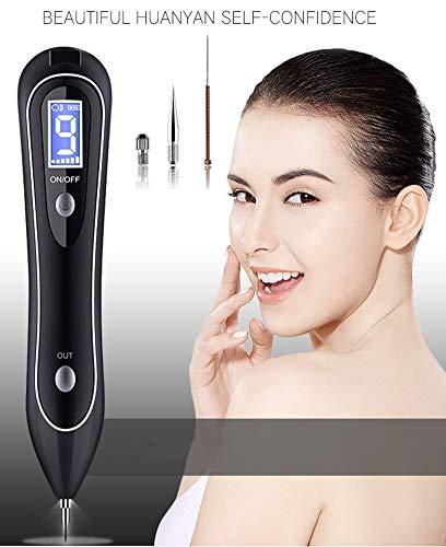 MR-Skin-Tags-Entferner, Maulwurf-Entferner mit 9 LED-Scheinwerfern, tragbarer wiederaufladbarer Skin-Entfernungsstift für Warze, Sommersprossen, Nevus, Dark Spot und kleines Tattoo