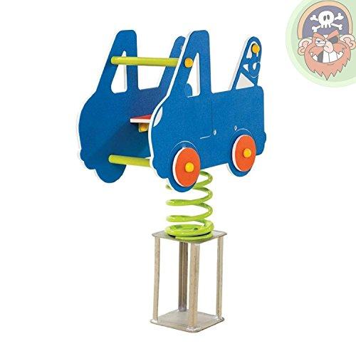 Gartenpirat Federwippe Wippe Auto für Kinder EN1176 öffentlich
