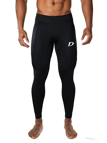 "Decisive Fitness Mens Tight, Compression, Gym Tight, Cycling Tight, Yoga Pant, Jogging Tights - Black Color (XL ( 30"" to 36"" Waist ))"