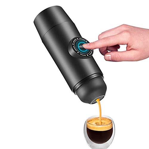 Lovevv Verbesserte wiederaufladbare tragbare elektrische Kaffeemaschine in Einer Mini-Espressomaschine mit eingebauter Batterie und heißem Extraktionspulver und Außenreisekapsel - Kaffeemaschine Batterien Mit