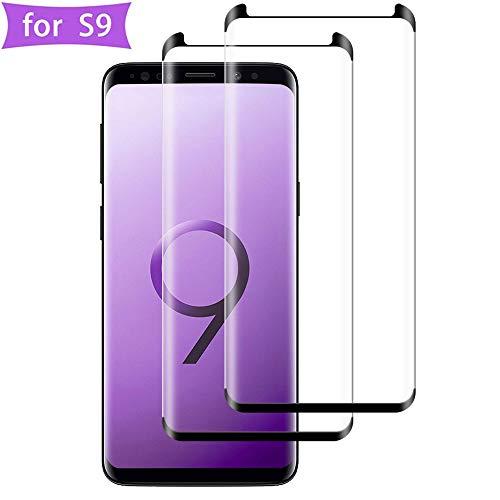 Flysee Vetro Temperato per Samsung Galaxy S9, [2-Pack] Pellicola Protettiva per Samsung S9 [Custodia Compatible, Senza Bolle, HD Chiaro, 9H Durezza, Anti-Graffio]