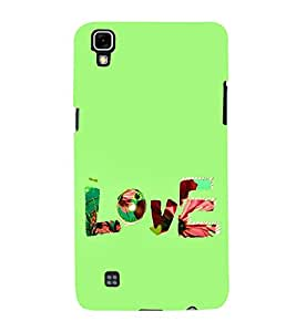 FUSON Love Fabric Text 3D Hard Polycarbonate Designer Back Case Cover for LG X Power :: LG X Power K220DS K220