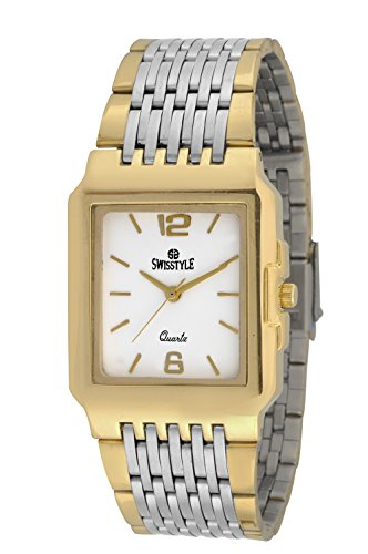 Swisstyle SS-GSQ1112 Gold Analog Watch For Couple
